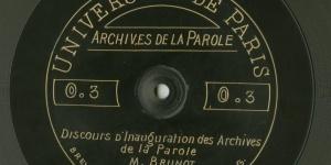 Ferdinand Brunot, Archives de la Parole, 1911