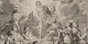 Cochin, Prévost, Frontispice de l'encyclopédie, 1772