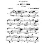 Arthur Carreras, La bicyclette : habanera pour piano, 1891