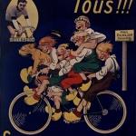 Mich, Tous !!! sur vélo Petit-Breton..., 1921