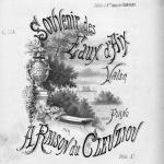 Adrien du Cleuziou, Souvenir des eaux d'Aix : valse pour piano,1884