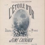 Aimé Chéniaux, L'étoile d'or : mazurka pour piano, 1890