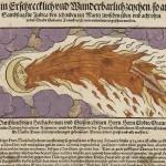 Vue d'un phénomène céleste ressemblant à une comète qui a apparu à Salon en Provence,