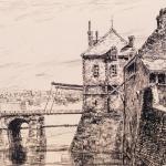 Wagnet Louis,Calais. Porte de la rue du Havre,19e siècle