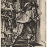Homme cherchant à forcer une porte