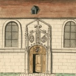Boudan Louis, Veüe de la porte de l'Eglise de nostre Dame d'Yerres, en dedans de la court,1704