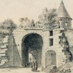 Ruines de la porte cauchoise à Rouen
