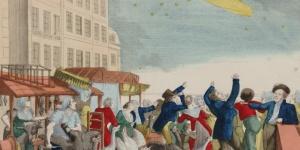 Apparition de la fameuse comète (de 1811) vue du quai de la vallée, 19e siècle