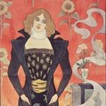 Eugène-Samuel Grasset,Jeune femme aux fleurs, 1890-19..