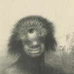 Odilon Redon, Le polype difforme flottait sur les rivages, sorte de cyclope souriant et hideux, 1883
