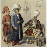 Illustrations de Elbicei atika. Musée des anciens costumes turcs de Constantinople, 1855