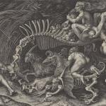 Marcantonio Raimondi,Scène fantastique dite la Carcasse,1506-1534