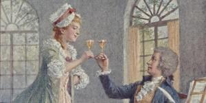 Mozart : Carte postale en couleur d'après une oeuvre de Hanz Printz