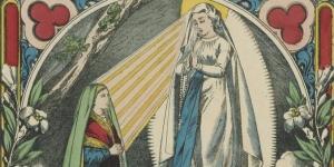 Notre-Dame de Lourdes : apparition de la Très-Sainte Vierge à Bernadette Soubirous..., 1873
