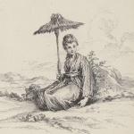 Watteau et Boucher, Nikou femme Bonze ou Religieuse Chinoise, 1731