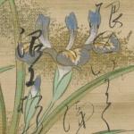Jûnigatsu kachô waka, manuscrit japonais
