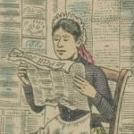 Lecture et pot-au-feu, image d'Epinal, 1893