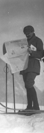 Skieurs à Chamonix en 1914
