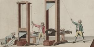 La guillotine, estampe, 1791-1795