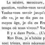 Victor Hugo, Discours sur la misère, 1849