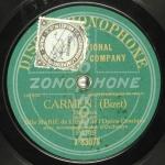 Bizet, Carmen, enregistrement sonore, 1905