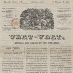 Vert-Vert, journal des salons et des théâtres, 1842
