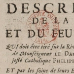 Description de la fête et du feu d'artifice [...], 1730
