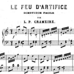 Le feu d'artifice, partition, 1863