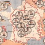La carte du Tour de France en 1934