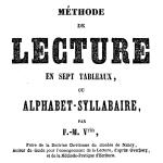 Méthode de lecture en sept tableaux, 1854