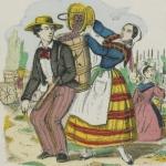 Les quatre saisons, image d'Epinal, 1860