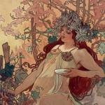 Mucha, Les Saisons, 1896