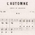 L'automne : choeur des chasseurs, 1860