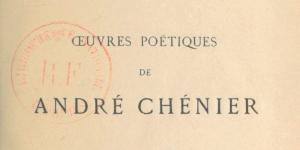 Chénier, Œuvres poétiques, 1884