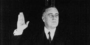Roosevelt prêtant sermant, 1932