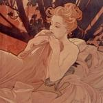 Mucha, Aurore et crépuscule, 1899