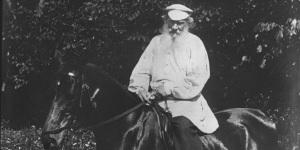 Tolstoi à cheval, 1910