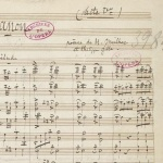 Jules Massenet, manuscrit de Manon