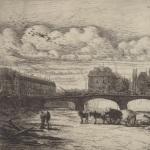 Charles Meryon, L'abside de Notre-Dame de Paris, 1854