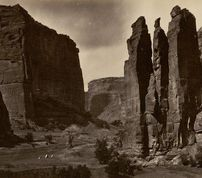 Cañon de Chelle. Walls of the Grand Cañon about 1200 feet in height / Timothy O'Sullivan, 1873<br>============================